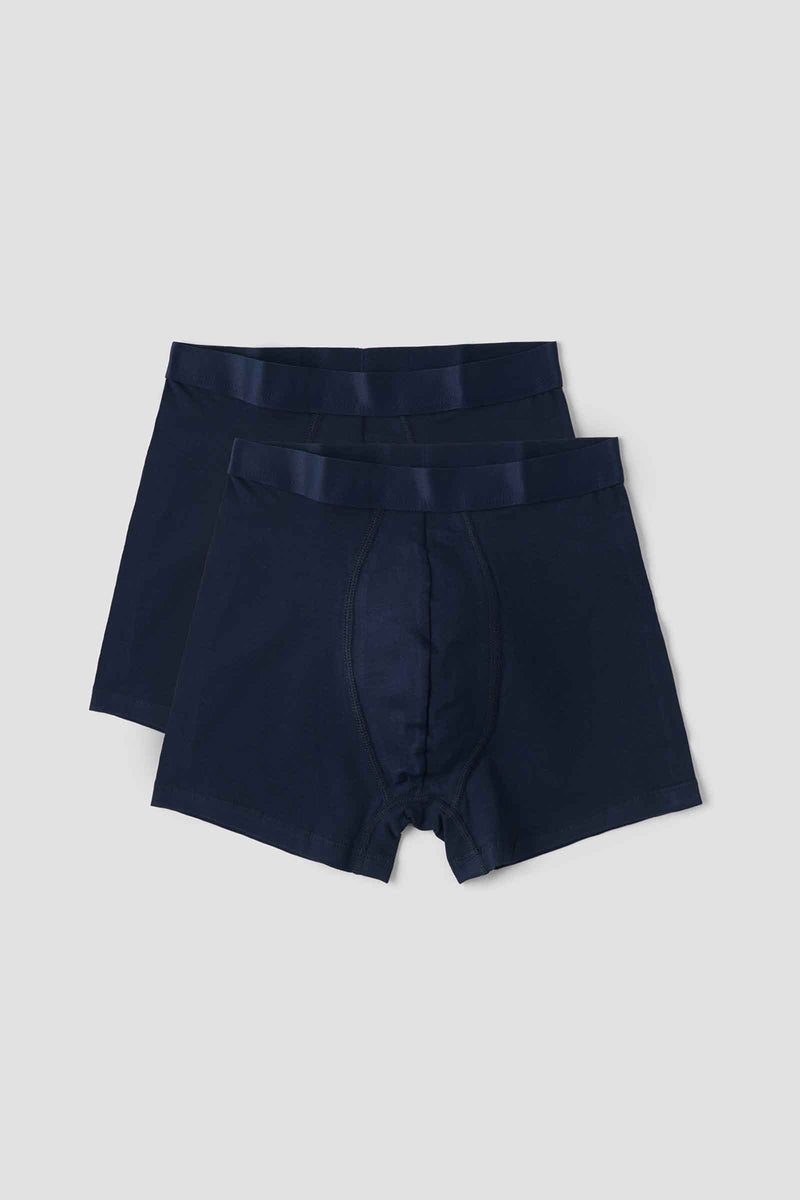 Organic Basics Organic Cotton Boxers 2-pack Navy