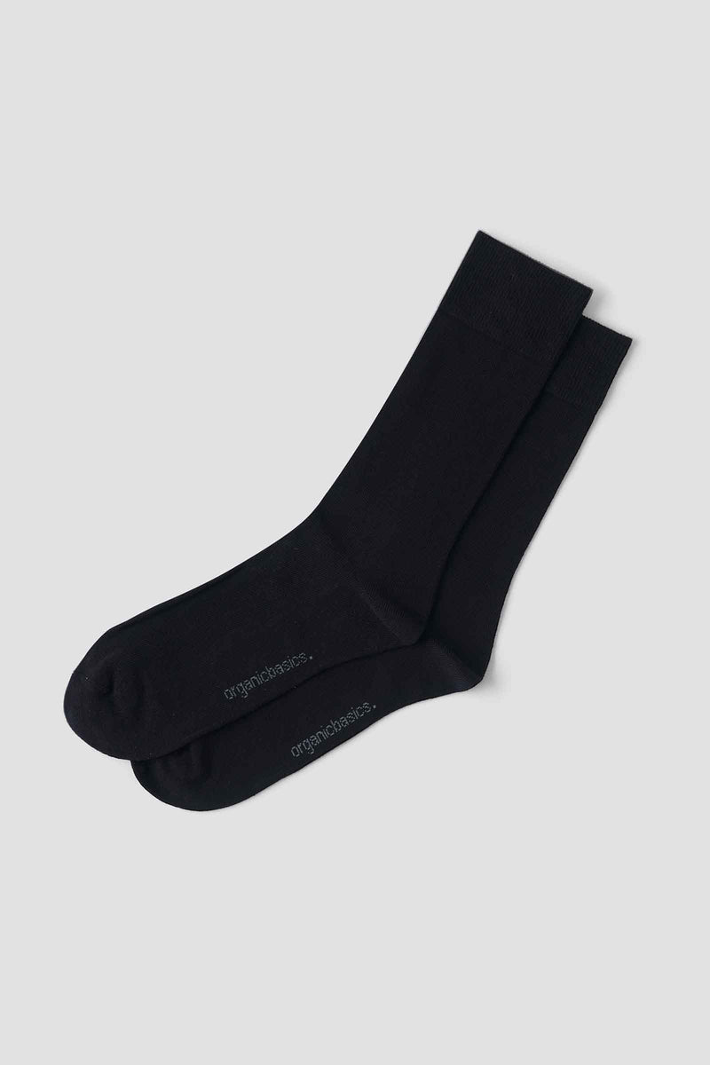Organic Basics Organic Cotton Socks - 2-Pack Black