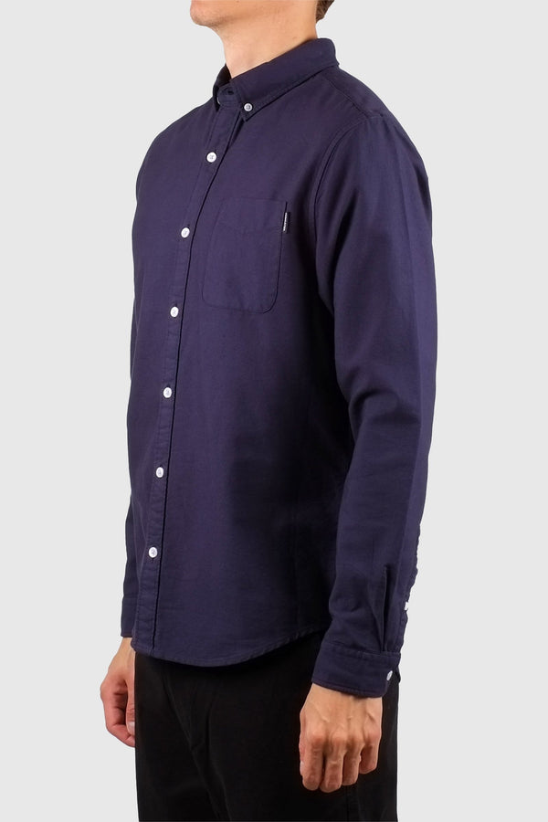 DEDICATED Varberg Oxford Shirt Navy
