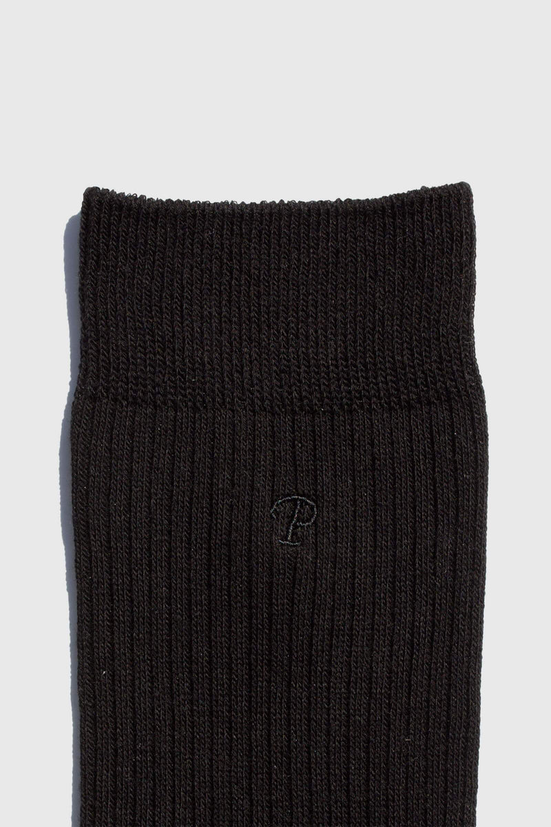 Paper Project Basics Rib Crew Socks Black