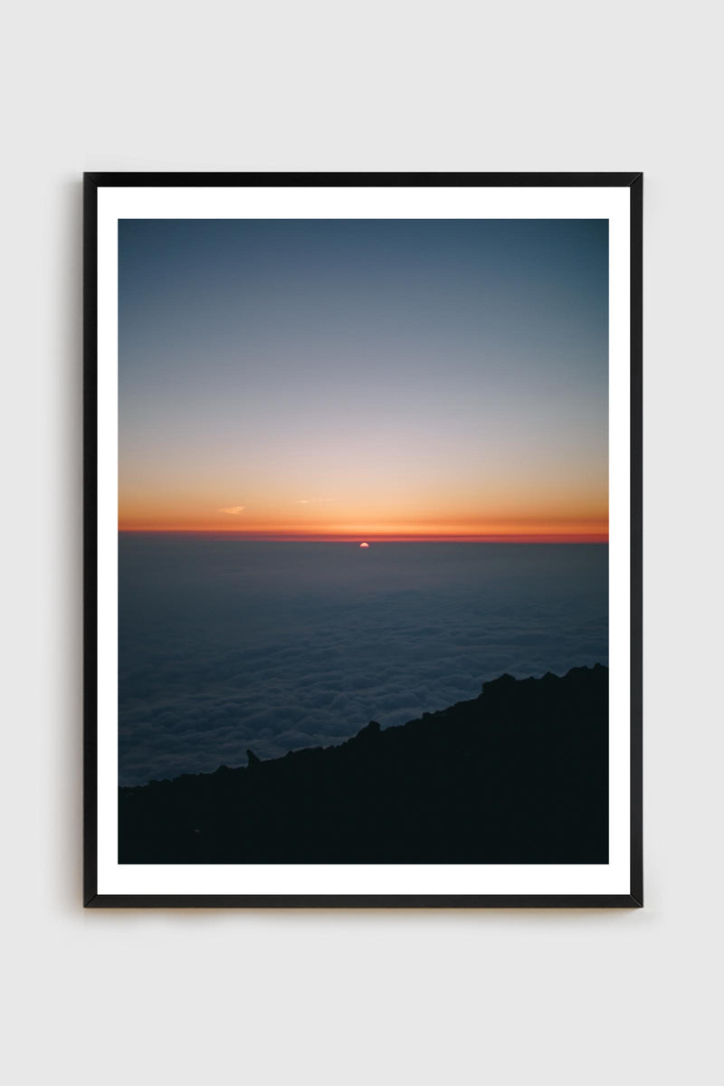 Sunrise from the top of Mt. Fuji in black frame