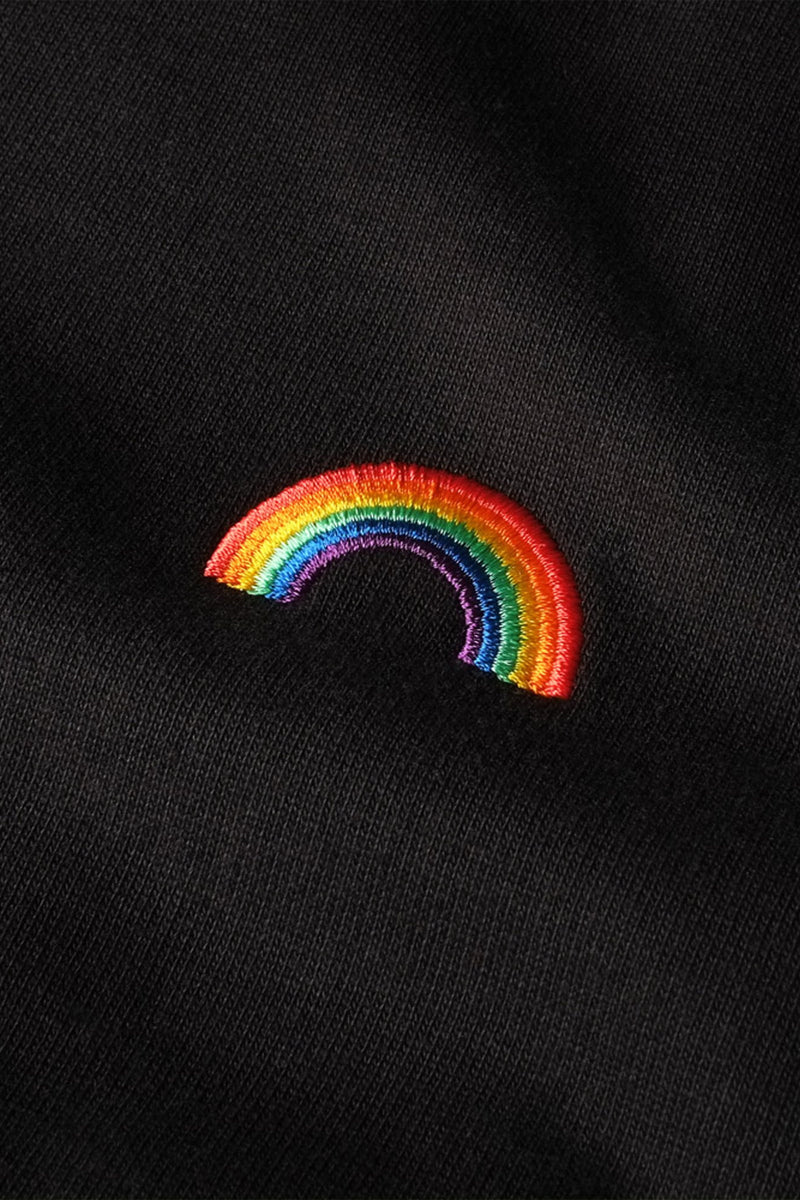 DEDICATED Stockholm Rainbow T-shirt Black