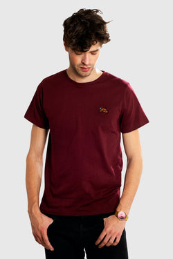 DEDICATED Stockholm Stitch Bike T-shirt Maroon