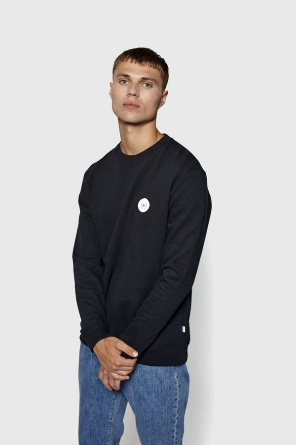 Woodbird Our Braxy Patch Sweatshirt Black