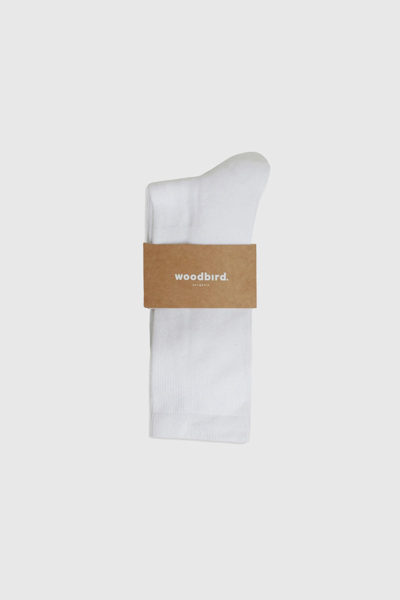 Woodbird Our Dress Socks White