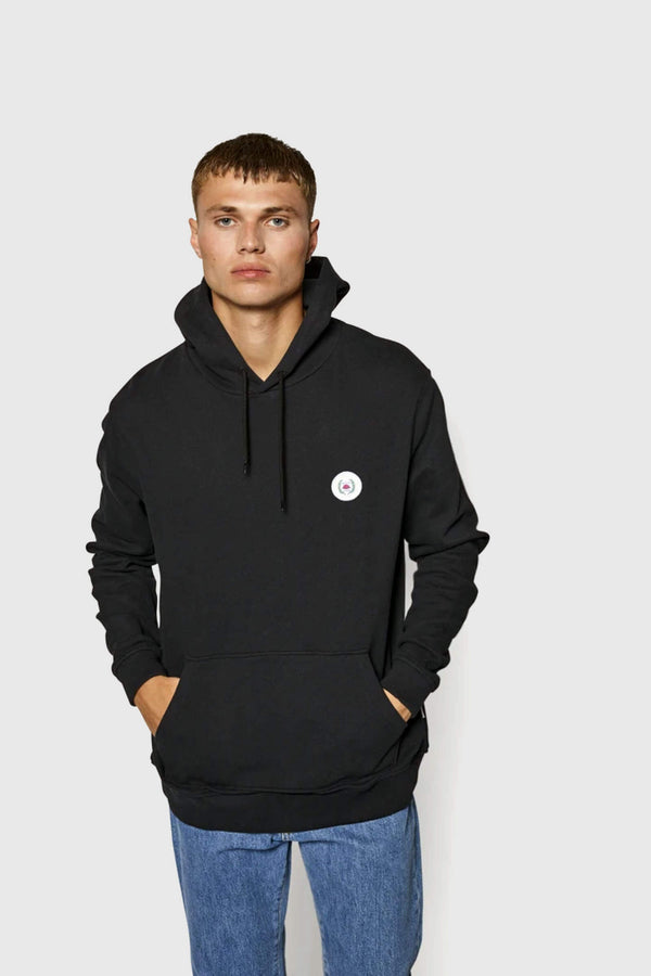 Woodbird Our Shaxy Patch Hoodie Black