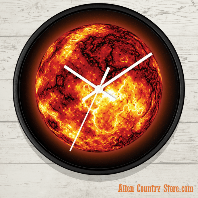 Molten Planet Wall Clock