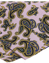 100% Luxury Silk Pocket Square Handkerchief in Traditional Large Coloured Paisley Design