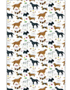 Dog Breeds Print 100% Cotton Country Kitchen Tea Towel from Samuel Lamont