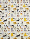 When The Cat's Away Print 100% Cotton Country Kitchen Tea Towel from Samuel Lamont