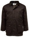 Chunky Padded Wax Jacket - UK Country Classics Waterproof Windproof Coat