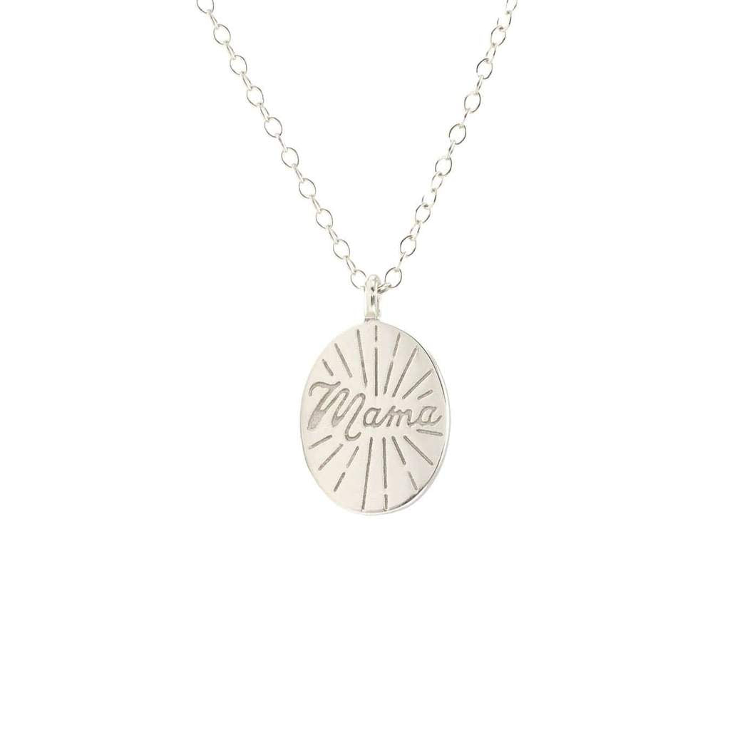 Mama Sterling Silver Necklace - Lola Boutique