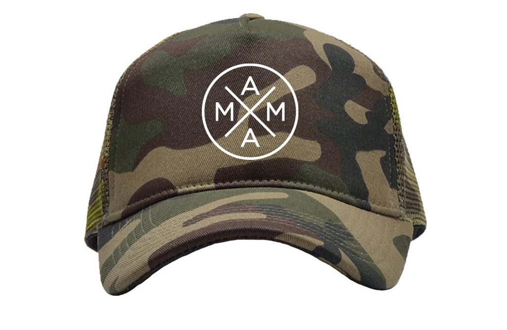 MAMA X Camo Trucker Hat - Lola Boutique