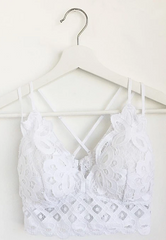 Crochet Lace Bralette White - Lola Boutique