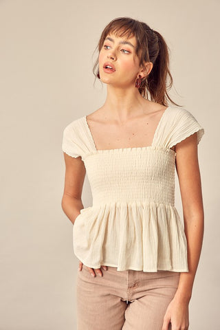 *PREORDER* Saints Stripped Flare Jeans Cream + Rust