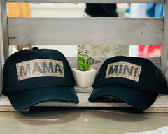 MAMA X Leopard Trucker Hat - Lola Boutique