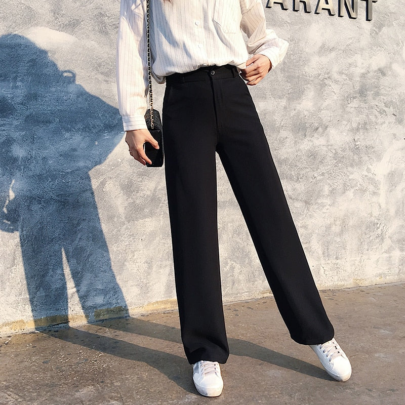 Elegant Casual High Waist Wide Pant