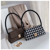 Retro Striped Plaid Bag