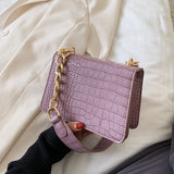 Crocodile Pattern PU Leather Bag
