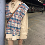 Plaid Loose Knitting Jumper