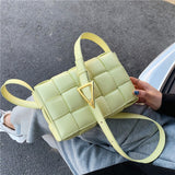 Small Weave Flap Bag