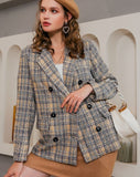 Square Pattern Casual Blazer