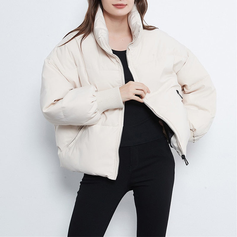 Stand Collar Bubble Jacket - Eleega