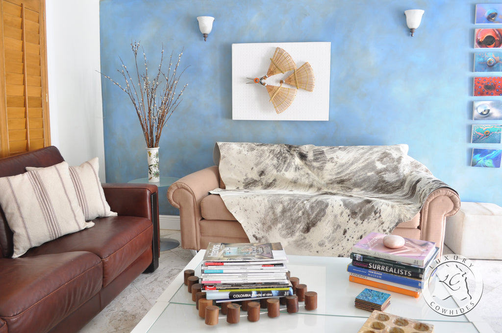 The Cowhide Rug adds Character and Utility to your Room