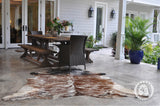 stylish cowhide rug