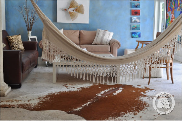 exotic cowhides in home décor