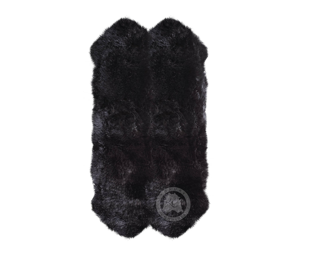 New Zealand Sheepskin Black, Approx Size 3'x6'