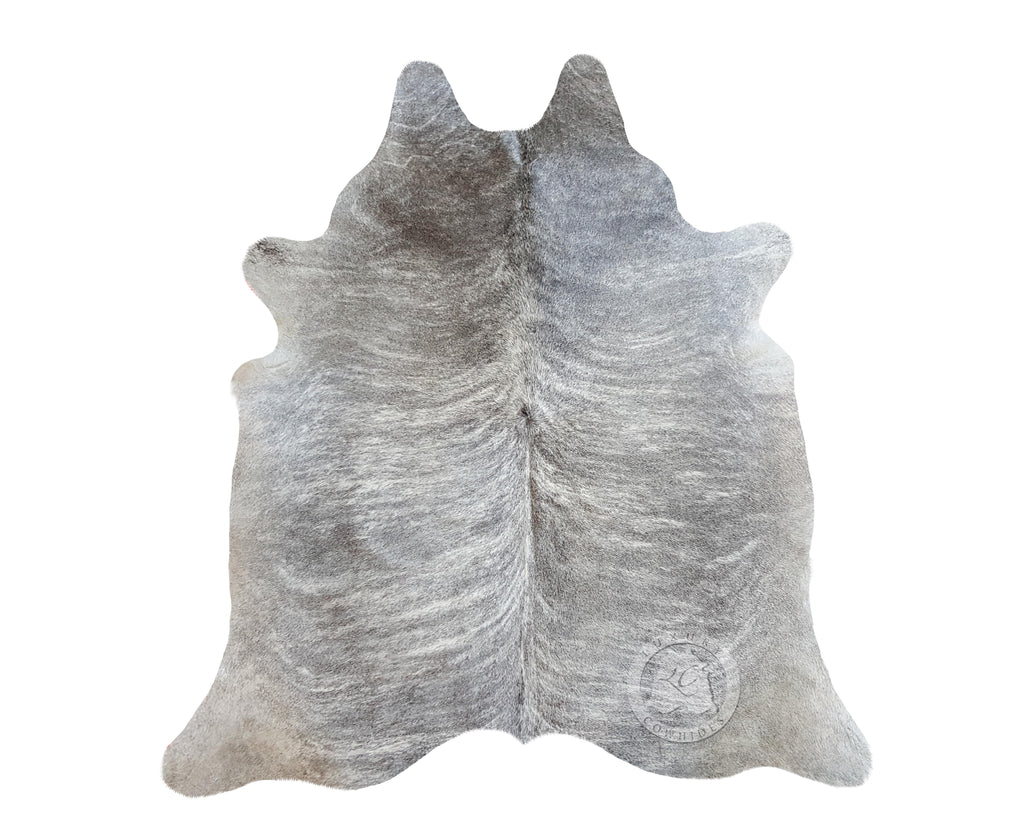 Grey Brindle Cowhide Rug