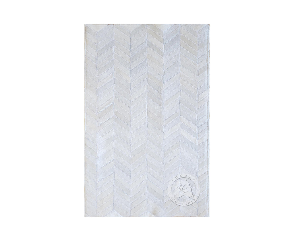 FLOOR MAT CHEVRON ON OFF WHITE DESIGNER RUG 24x35""