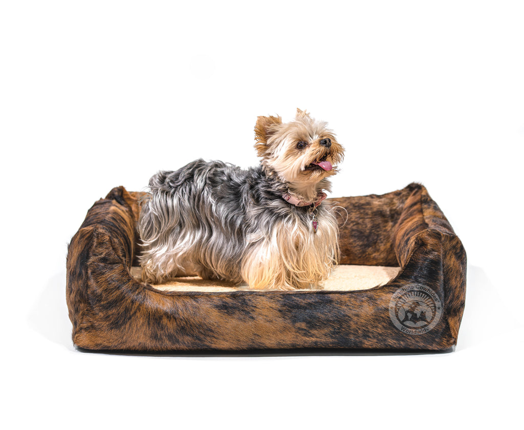 Brindle Cowhide Pet Bed, 22X29X8""