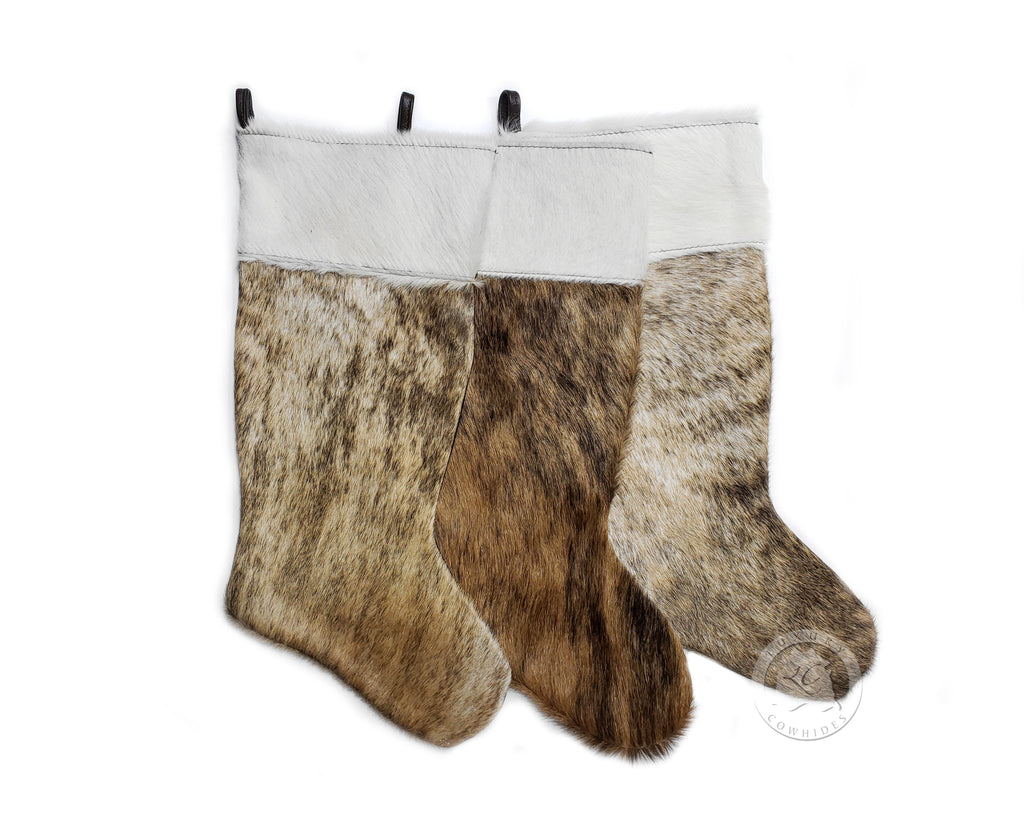 "CHRISTMAS STOCKINGS - BRINDLE - Size 19""x10"""