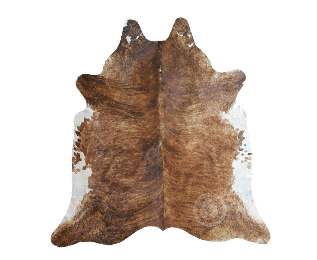 Brindle White Belly Cowhide Rug