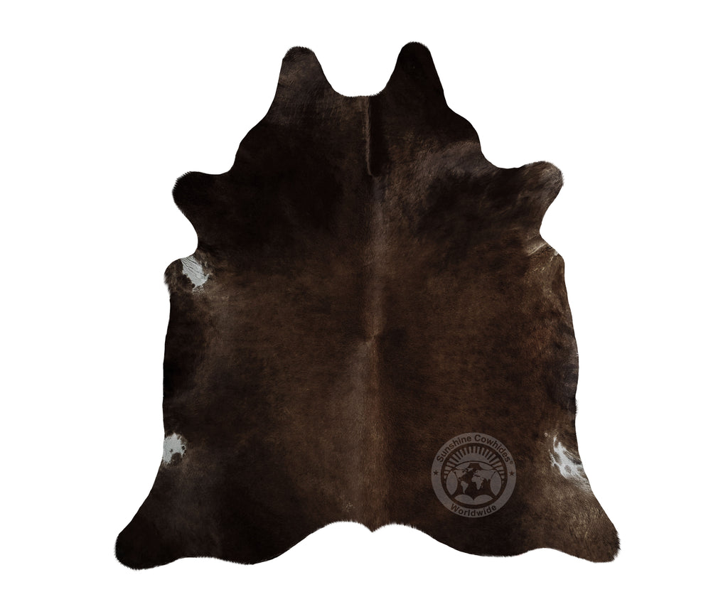 Dark Chocolate Cowhide APPROX.  6ft x 7.5+ ft  - Top Quality Quality Cowhide Rug