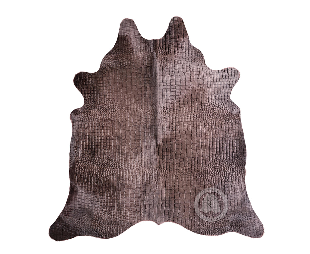 Crocco Dyed Chocolate Cowhide Rug