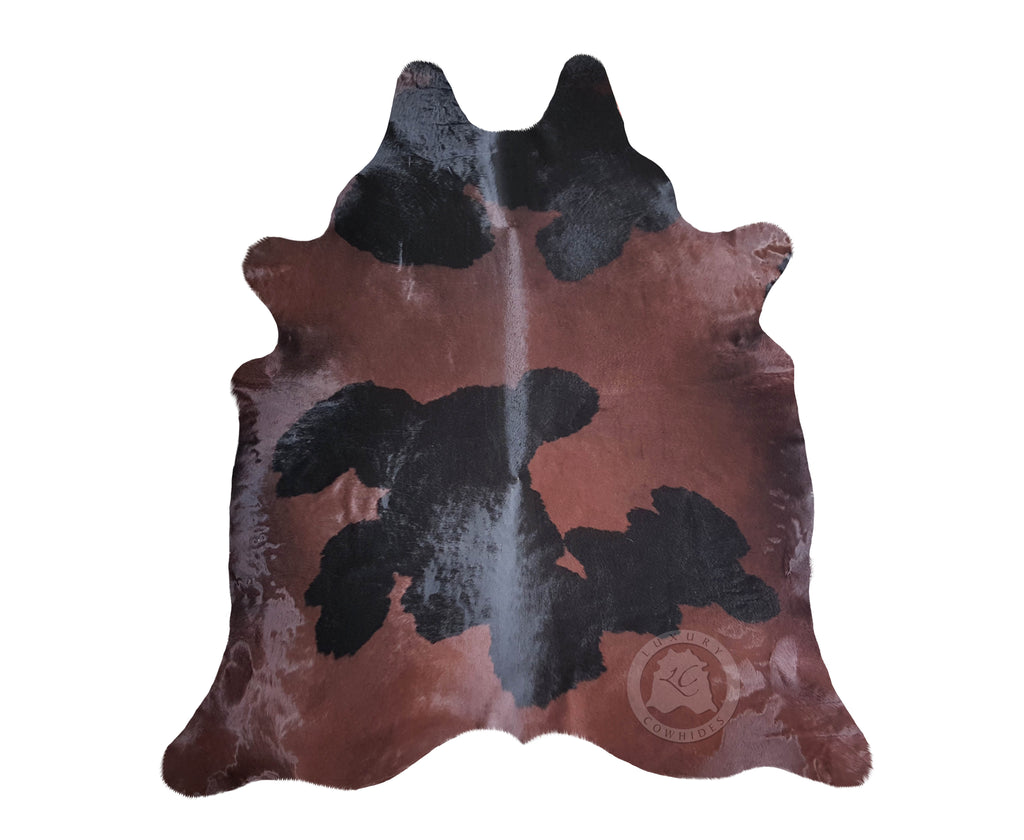 Chocolate and Black Cowhide Rug