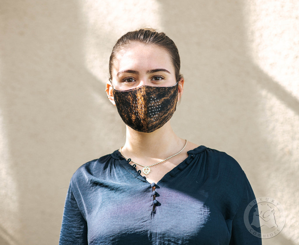 UNISEX HAIR On COWHIDE Face Mask - 10 Filter replacements Included