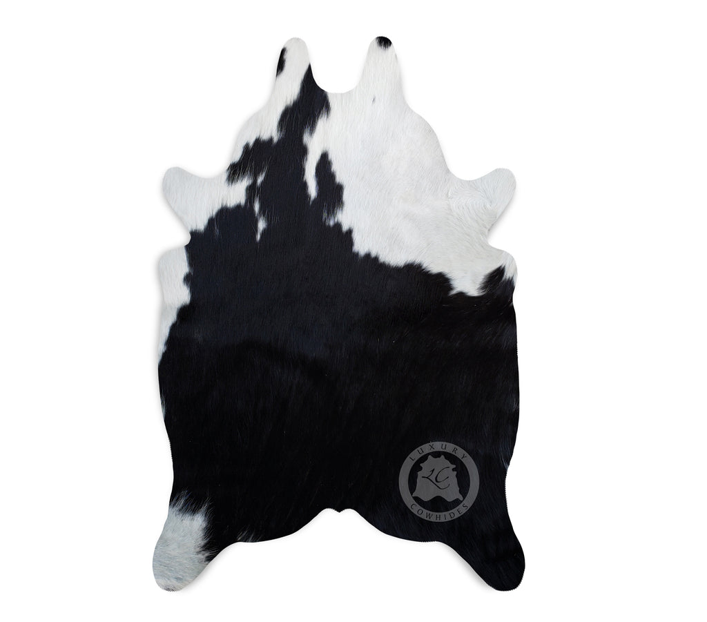 "Black & White Mini Cowhide Rug, 24""x 35"""