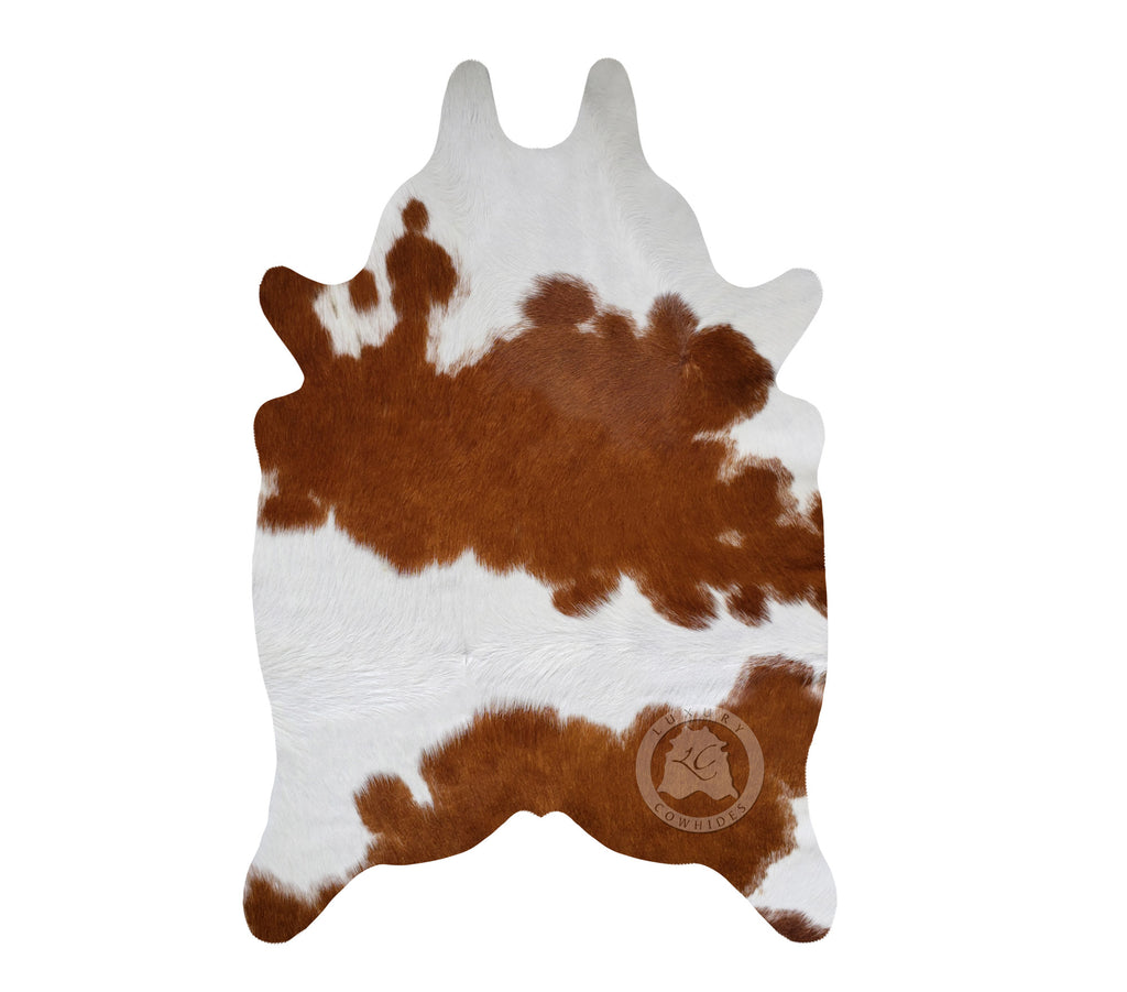 "Brown & White Mini Cowhide Rug, 24""x 35"""