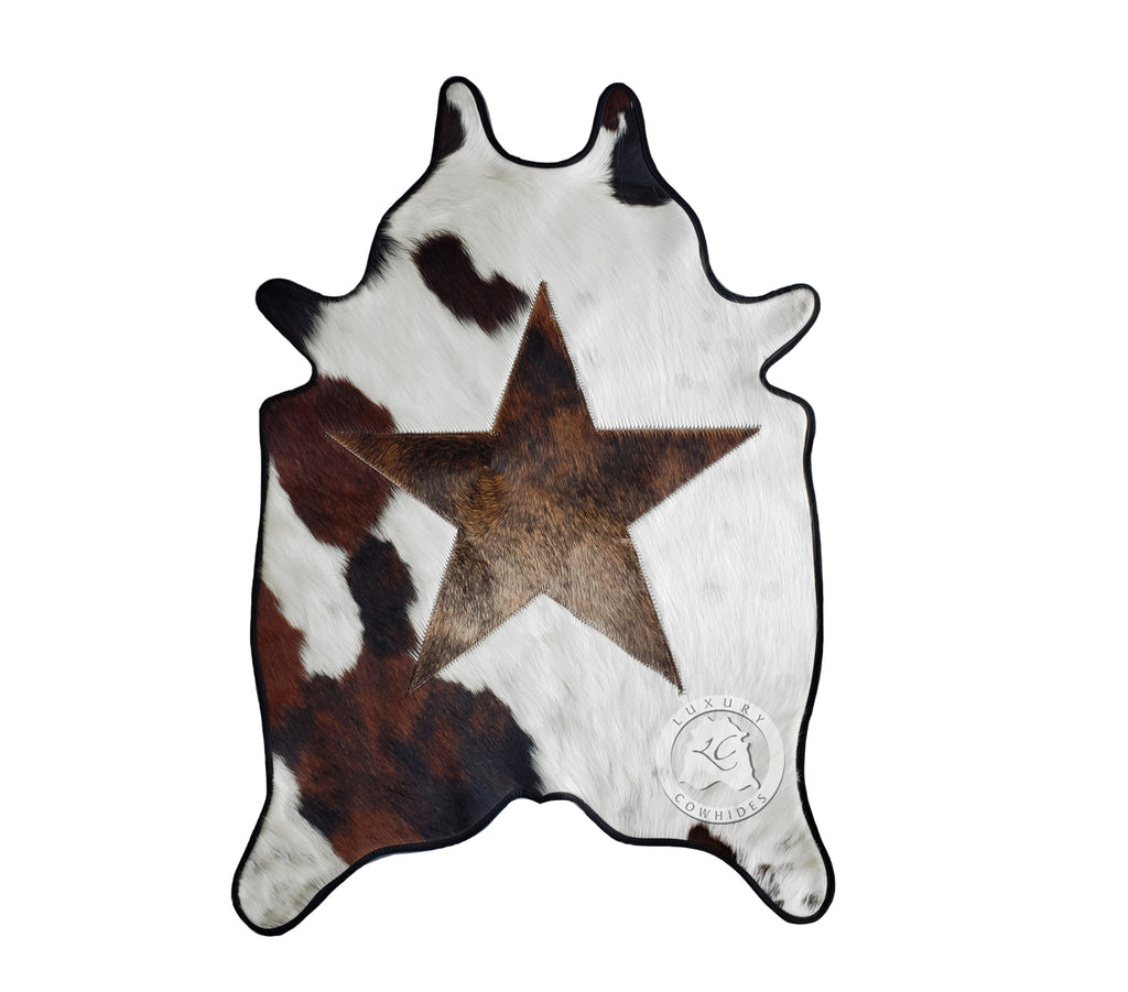 Star MINI Cowhide Rug 24'x35' Leather Binded