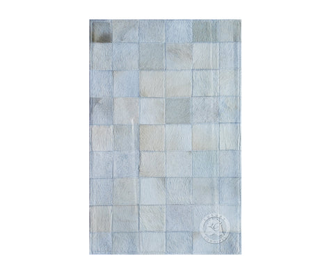 "Bedside Patchwork Cowhide Rug Off White (22"" x 34"" Inches)"