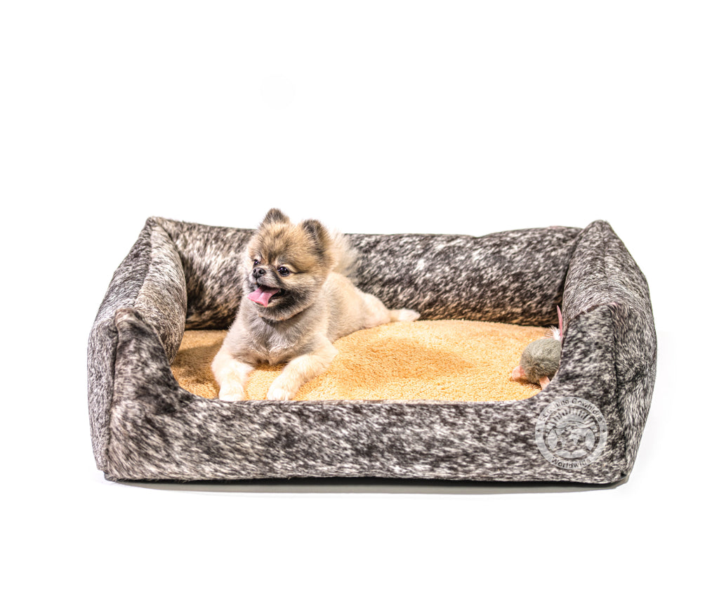 Salt & Pepper BlackCowhide Pet Bed , 22X29X8""