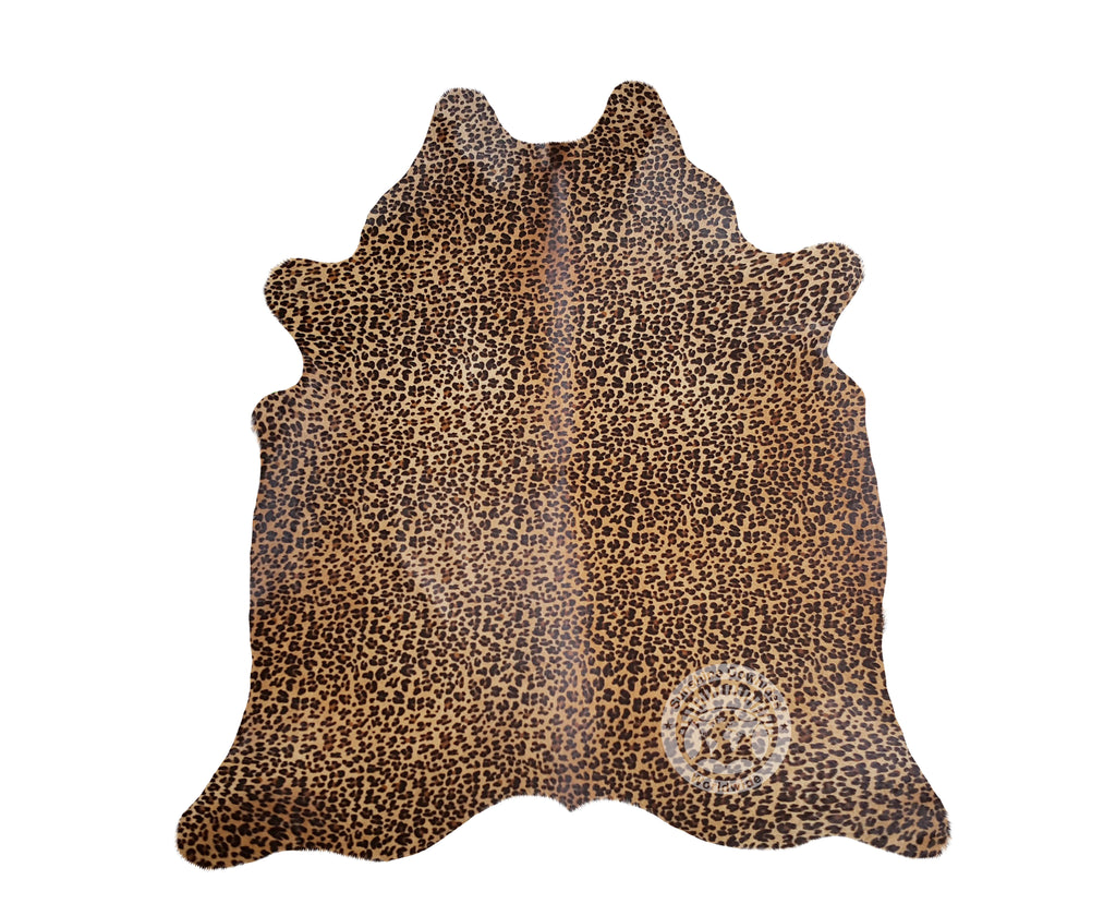 Jaguar on Caramel Cowhide Rug