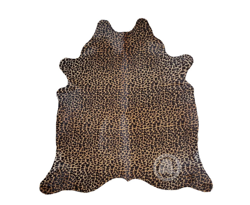 Leopard on Caramel Cowhide Rug
