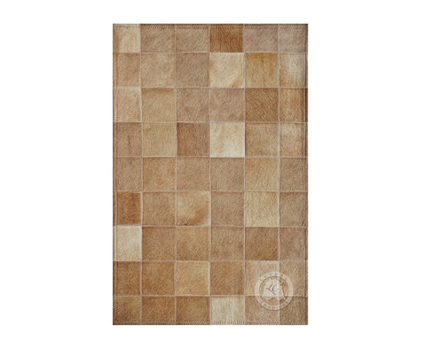 "Bedside Patchwork Cowhide Rug Palomino (22"" x 34"" Inches)"