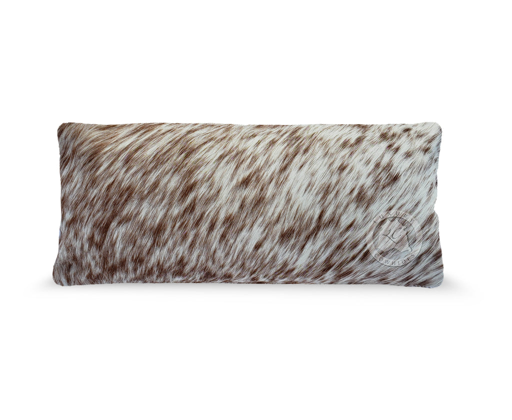 "Salt & Pepper Brown Pillow (7 x 15"")"