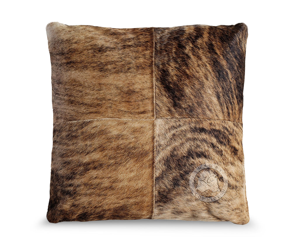 "Brindle Tricolor Pillow 31""x31"""